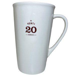 Starbucks 2010 White Venti 20 Oz Coffee Cup Mug